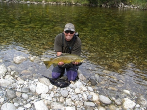 Trophy Brown out of a Fiordland stream